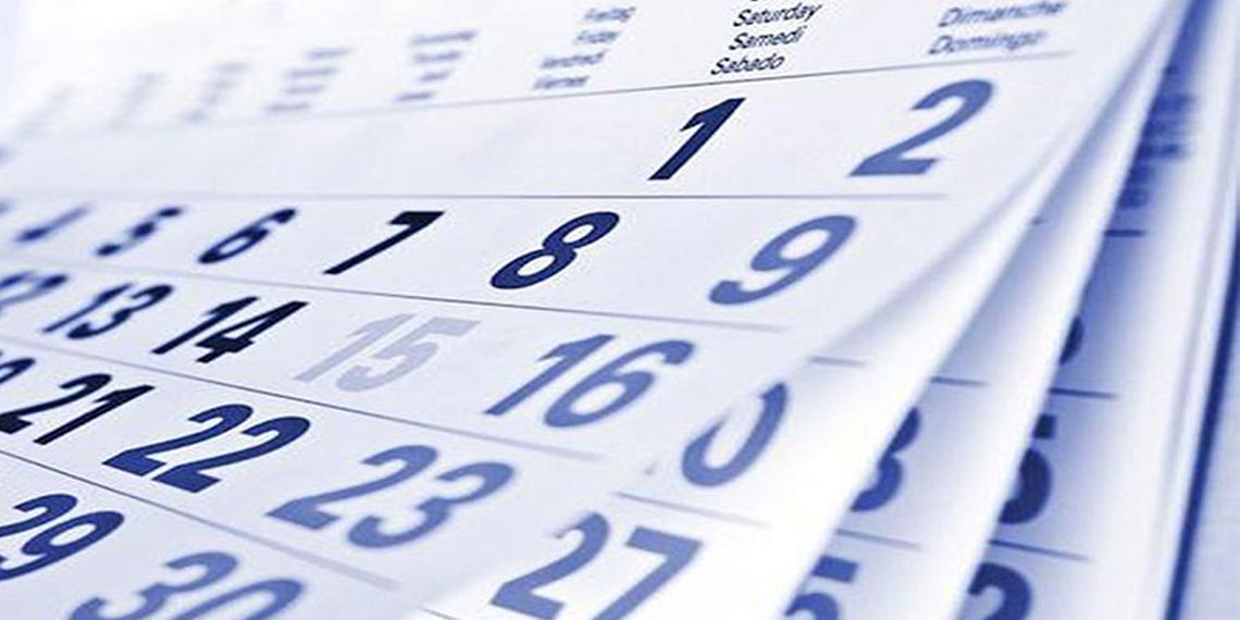 Calendari Econòmic del 1 al 5 de Gener 2018